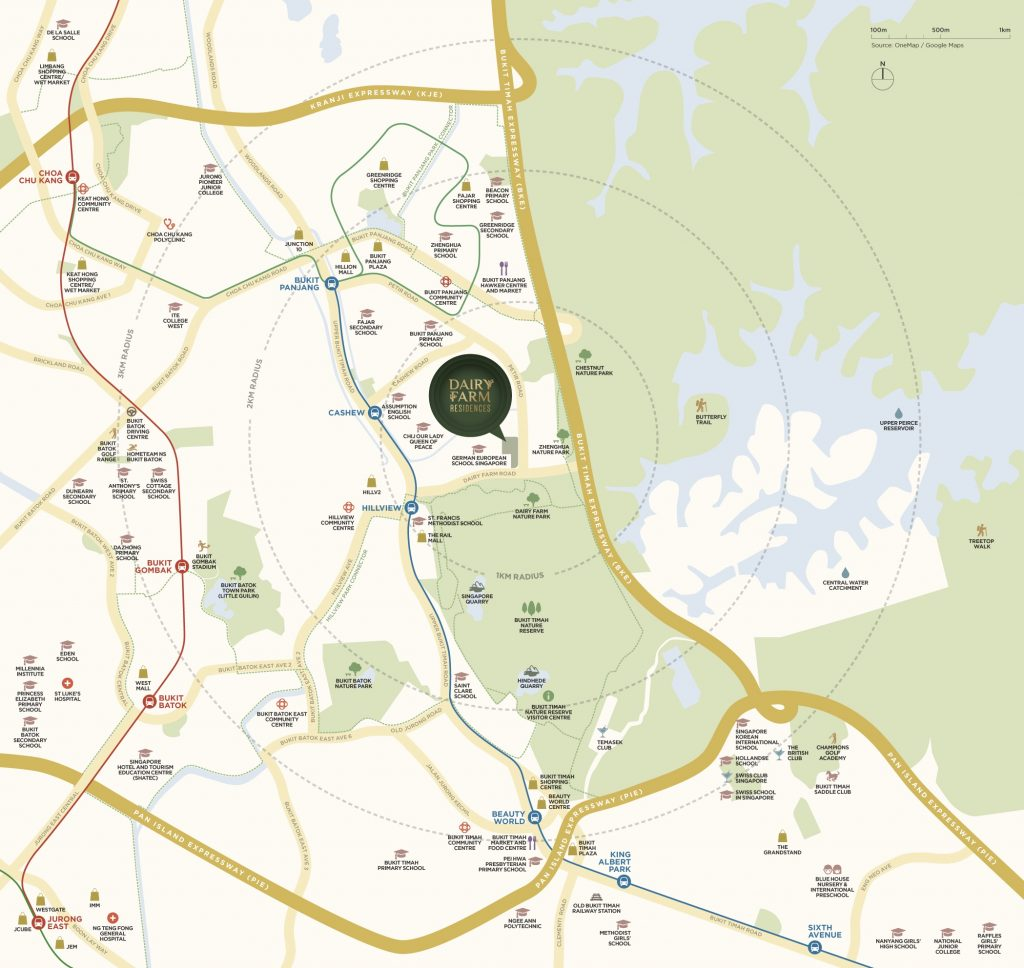 Dairy_Farm_Residences_Location_Map